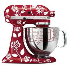 Roses kitchen mixer vinyl decal set