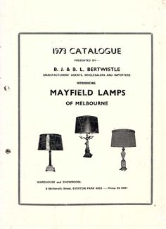 1973 || Mayfield Lamps Catalogue