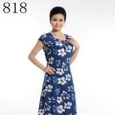 Vestidos Summer Plus Size 4XL 5XL Women Dress Vintage Printed Flower Print Dress Long Casual Beach Dress N155