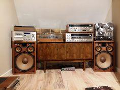 Pioneer cs 99a Vinyl Record Cabinet, Vinyl Record Storage, Vinyl Records, Audiophile, Mc Intosh, Radios, Cd Player, Vinyl Record Collection, Vinyl Room