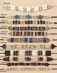 Handmade Native American chokers | Bone Choker or Beaded Choker for that unique look!