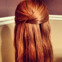 photo d'un torsade dans les cheveux