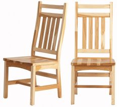 Trestle #Chair in Natural Hickory