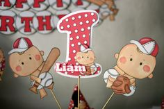 1st Birthday Boy Baseball Party Decorations  by bcpaperdesigns, $18.00