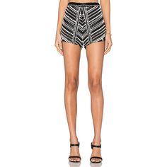 Karina Grimaldi Siesta Beaded Shorts Shorts ($283) ❤ liked on Polyvore featuring shorts, karina grimaldi and beaded shorts
