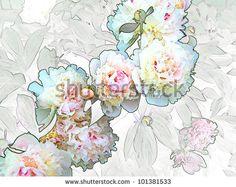 Bouquet of white peonies. by Tatsiana_S, via Shutterstock