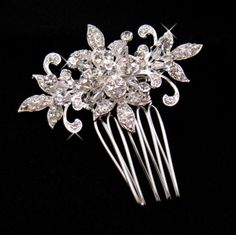 Crystal Floral Hair Comb