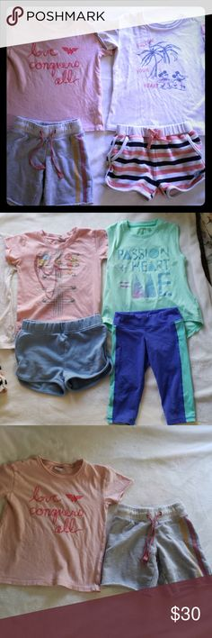 63a1247885 5 Girls outfits shorts and tee outfit bundle Set of 5 outfits. 1st set is