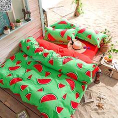 Watermelon-Single-Double-Queen-Size-Bed-Pillowcase-Quilt-Duvet-Cover-Set-A990