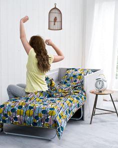 Jouw logee's slapen vanaf nu op een goede slaapbank of slaapstoel.