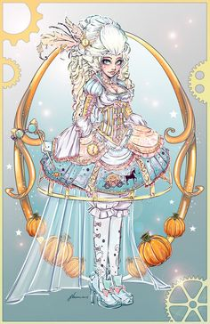 Steampunk Cinderella by NoFlutter on DeviantArt. she is more Rococopunk but she will go with my other fairy tale characters done steampunk style Art. Disney Fan Art, Disney Style, Disney Love, Steampunk Cosplay, Steampunk Fashion, Film Manga, Art Magique, Dc Anime, Wow Art