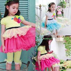 New Girls Kids Dress Black Belt Handmade Floral Petty Dress Princess Dress shipping & Drop shipping