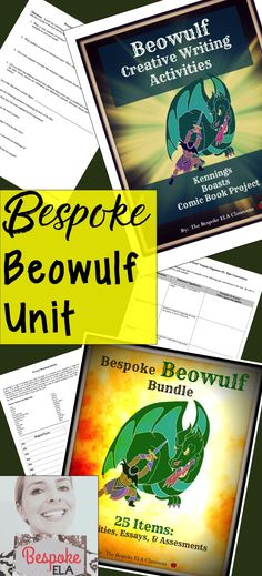 In this mega Beowulf Bundle by Bespoke ELA, you will find 25 lessons and activities that include very thorough answer keys with textual evidence where applicable to take your Beowulf unit to the next level. This bundle includes items such as sample essays, creative writing activities, an objective skills-based test with answer key, and much more!
