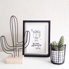 sundayyy shared by xn. on We Heart It - grafika cactus and decoration - My New Room, My Room, Aesthetic Room Decor, Room Inspiration, Bedroom Decor, Home Decor, 21 September, House, Design Styles