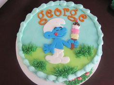 Smurf Birthday on Cake Central