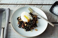 Slow-Cooked Tuscan Kale with Pancetta, Bread Crumbs, and a Poached Egg Recipe on Food52 recipe on Food52