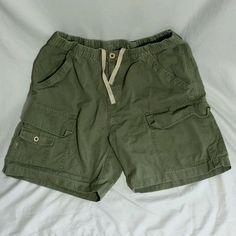 TOMMY BAHAMA Relax Mens L Cargo Shorts Dark Green Drawstring Elastic Waist #TommyBahama #Cargo