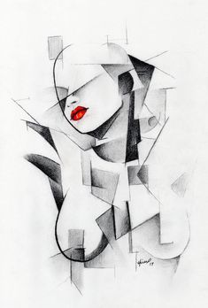 Dreaming of You Drawing by Robert Hickox   Saatchi Art Futurism Art, Cubist Art, Cubist Paintings, Small Canvas Art, Art Drawings Sketches, Pencil Drawings, Erotic Art, Figurative Art, Saatchi Art