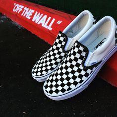 Vans Classic Checker Slip-on Available Now at 1419 N Tustin St Suite D, Orange, CA  92867 #vans#sneakers
