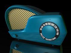 Philco Boomerang Radio ~ Cool !