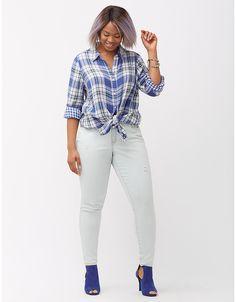 c6b131a0 Genius Fit™ Skinny Crosshatch Jean   Lane Bryant Light Wash Skinny Jeans, Plus  Size