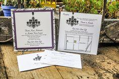 Wedding Invitations by r3mg - www.r3mg.com - Chandeliers, Pocket Card, Darth Vader, Elegant, Sophisticated, Civil Union, Distinguished