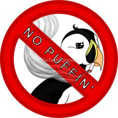 Penguin, No Puffin  #puffin #no #smoking #dont #smoke #please #sticker #redbubble #design #cute #reminder #warning #penguin #cartoon #smallbusiness #supportsmallbusiness #sale