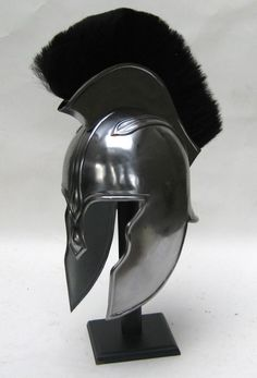 black burgonet with bevor and copper rivets; | historic-style ...