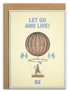 """Let go and live!"". #messageearth #sustainable #greetingcards #sustainability #eco #design #ecodesign #vintage #cards #peculiar"