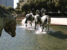 'Las Colinas Mustangs' at William's Square (just outside of Dallas) in Irving, Texas