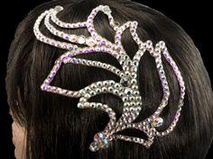 Hair bling for ballroom. Visit http://ballroomguide.com/comp/hair_make_up.html for more hair and makeup info