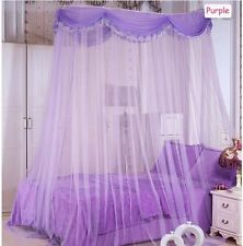 Luxury Ellipse Mosquito Net Canopy Princess Bedding Queen / King /Cal King Size
