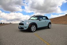 This is so cute!  The Mini Cooper S Cabriolet | 37 Ways To Treat Yourself With Tiffany Blue