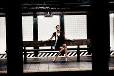 """Subway Ballet"": Amanda Norgaard by Marco Trunz for Kurv Magazine Spring/Summer 2013"