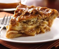 Try this version of all-time favorite apple pie!  Topped with a surprise streusel crumble and drizzled with sweet caramel, it made the grade at a state fair pie competition.