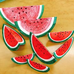 Diy And Crafts, Crafts For Kids, Arts And Crafts, English Classroom, Art For Kids, Watermelon, Lime, Bloom, Flamingo