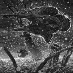 Winterreise  next print in my Classical series for @blackdragonpress  coming very soon! by nicodelort