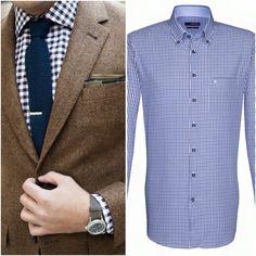 Business as usual mit dem karierten Hemd von Seidensticker (Uno - Regular Fit - 39,95€), zu finden auf www.myhemden.de! (linkes Bild by lookastic.de via Pinterest)
