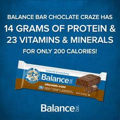 Celebrate National Chocolate Day with a Chocolate Craze Balance Bar. Satisfy the craving without the guilt!