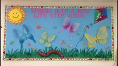 christian+school+bulletin+board+for+spring | Spring Into A New Life With Jesus Bulletin Board!