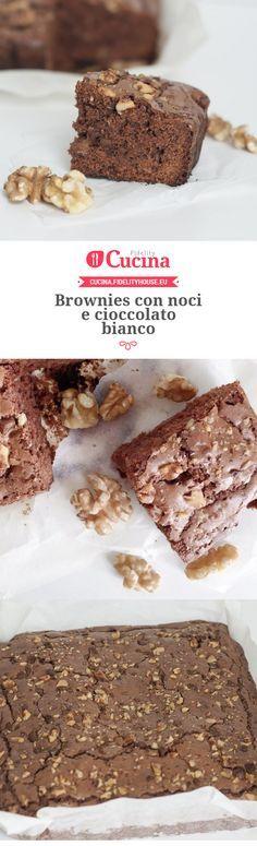 #Brownies con #noci e #cioccolato bianco della nostra utente Chiara. Unisciti alla nostra Community ed invia le tue ricette!