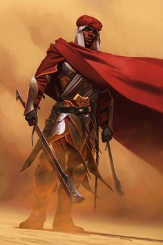 Steel Adept  Done for Elder Scrolls Legends, a Redguard warrior