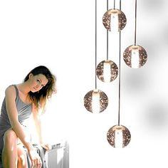 vedhæng lys design bocci 14 serie moderne krystal 5 lys – NOK kr. 1.507