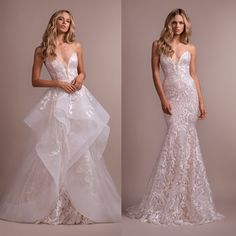 Two-in-One Dresses: Mixing up Your Wedding Day Style from Ceremony to Reception! 2 In 1 Wedding Dress, Detachable Wedding Dress, Wedding Gowns With Sleeves, Long Sleeve Wedding, Dream Wedding Dresses, Detachable Skirt Wedding Dress, Convertible Wedding Dresses, Pnina Tornai, Bridal Gowns
