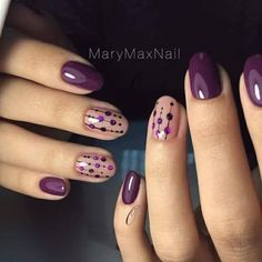 28 Cute Red And White Nail Art Designs To Try This Year - Workout Plan Purple dotty nail art design Flower Nail Art Nail Art Violet, Purple Nail Art, Purple Nail Designs, White Nail Art, Simple Nail Art Designs, Short Nail Designs, Diy Nail Designs, Yellow Nail, Purple Wedding Nails