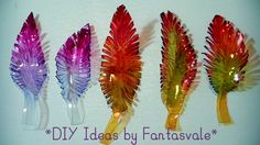 DIY ideas by Fantasvale - Recycling Plastic Bottles to make FEATHERS! #crafting #DIY #Recycling #Feathers Plastic Bottles, Feathers, Upcycle, Diy Ideas, Recycling, Bee, Crafting, Tutorials, Costume