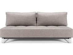 Innovation Supremax Deluxe Light Gray Sofa Bed