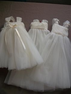made from Vera Wang wedding gown with a lot of tulle!