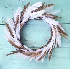 Spring Wreath Wreath For Door Rustic Wreath Feather Wreath Feather Wreath, Feather Crafts, Autumn Wreaths, Holiday Wreaths, Wreath Fall, Wreath Crafts, Diy Wreath, Wreath Ideas, Wreaths For Front Door