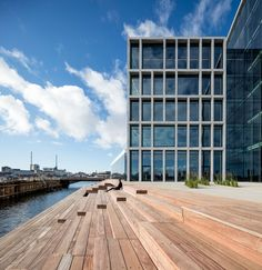Bestseller office complex, Pier Aarhus, by C. Office Building Architecture, Architecture Awards, Building Facade, Commercial Architecture, Chinese Architecture, Facade Architecture, Classical Architecture, Contemporary Architecture, Office Buildings
